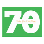 Happy 70th Birthday Milestone Postcards - in Green