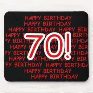 Happy 70th Birthday Mouse Pad