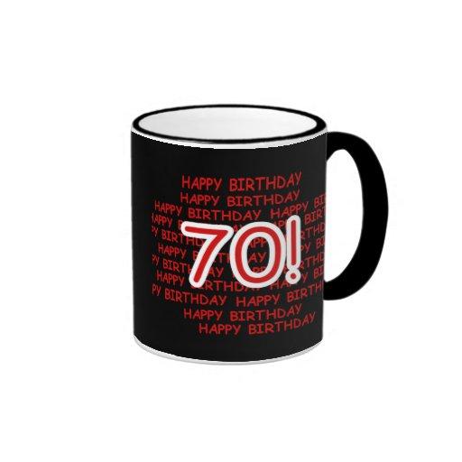 Happy 70th Birthday Mug