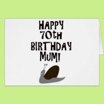 Happy 70th Birthday Mum! Card