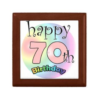 Happy 70th Birthday (pink) Gift Box