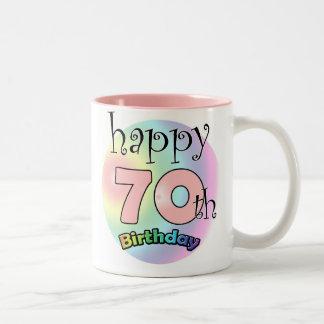 Happy 70th Birthday (pink) Coffee Mugs