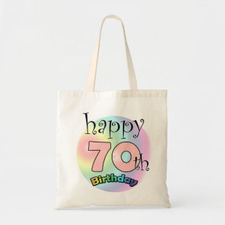 Happy 70th Birthday (pink) Tote Bag