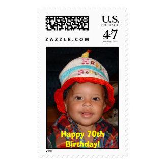 Happy 70th Birthday! Postage