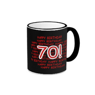 Happy 70th Birthday Ringer Mug