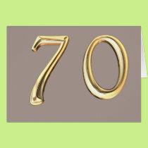 Happy 70th Birthday seventieth seventy 70 Card