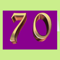 Happy 70th Birthday seventieth seventy 70 Card