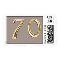 Happy 70th Birthday seventieth seventy 70 Postage