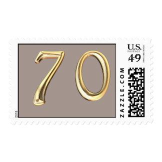 Happy 70th Birthday seventieth seventy 70 Postage Stamp