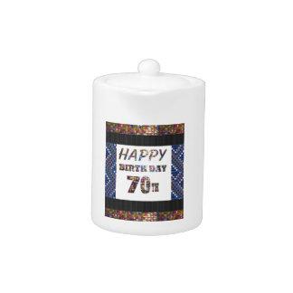 Happy 70th Birthday Teapot