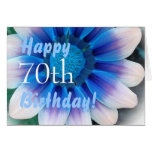HAPPY 70th  BIRTHDAY  with Magic Blue Flower Cards