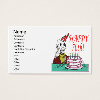 Happy 70th business card