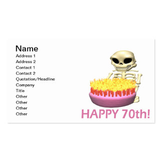 Happy 70th Double-Sided standard business cards (Pack of 100)
