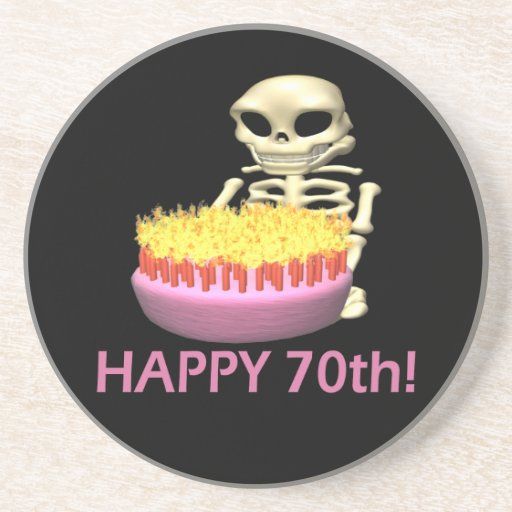 Happy 70th drink coasters