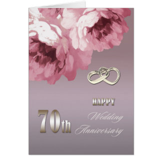 Happy 70th Wedding Anniversary Greeting Cards Greeting Card