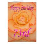 Happy 73rd Birthday Flower Card