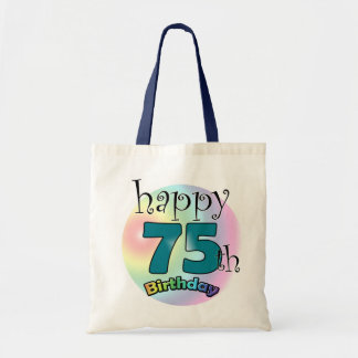 Happy 75th Birthday (blue) Tote Bag