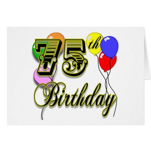 Happy 75th Birthday Celebration Card