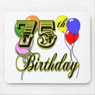 Happy 75th Birthday Celebration Mouse Pad