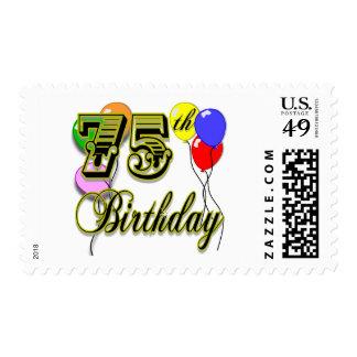 Happy 75th Birthday Celebration Postage