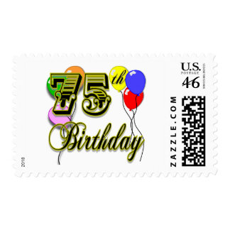 Happy 75th Birthday Celebration Stamps