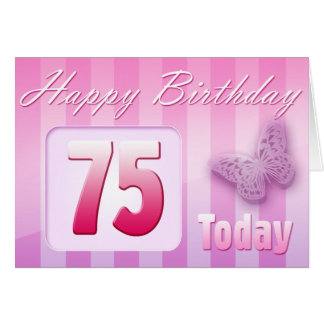 Happy 75th Birthday Grand Mother Great-Aunt Mom Card