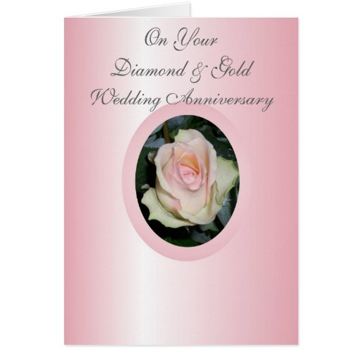 Happy th wedding anniversary card pink rose zazzle