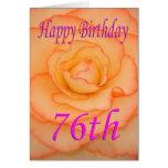 Happy 76th Birthday Flower Card