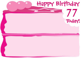 Happy 77th Birthday Card
