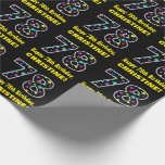 [ Thumbnail: Happy 78th Birthday, Fun Colorful Stars Pattern 78 Wrapping Paper ]