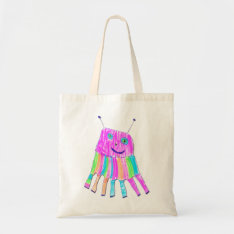 Happy 7 Legs Purple Rainbow Monster Tote Bag at Zazzle