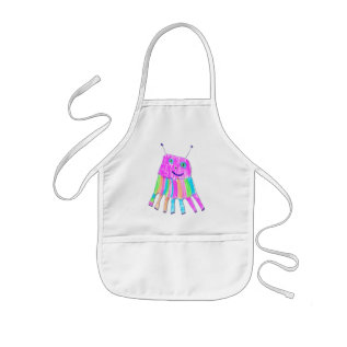 Happy 7 Legs Rainbow Monster Crafts Chef Cook Kids' Apron at Zazzle
