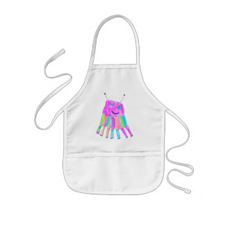 Happy 7 Legs Rainbow Monster Crafts Chef Cook Kids' Apron