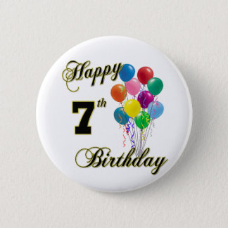 Happy 7th Birthday Button and Birthday Apparel