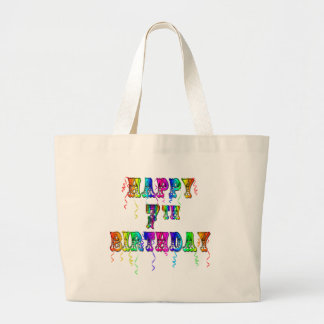 Happy 7th Birthday Circus Design Large Tote Bag
