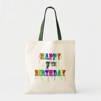 Happy 7th Birthday Circus Design Tote Bag