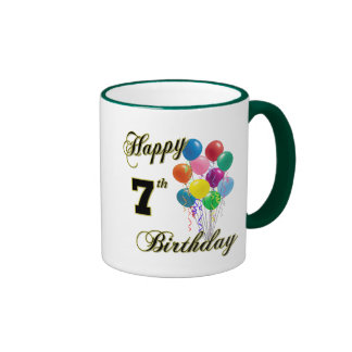 Happy 7th Birthday Coffee Mugs and Cups