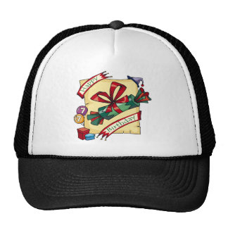Happy 7th Birthday Gifts Trucker Hat