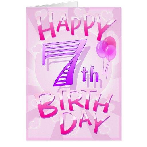 Happy 7th birthday greeting cards zazzle