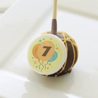 Happy 7th Birthday Party Treats Cake Pops