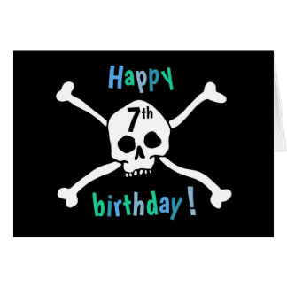 Happy 7th Birthday Pirate Card for boys