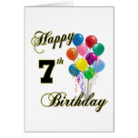 Happy 7th Birthday Post Cards and Birthday Cards Greeting Card