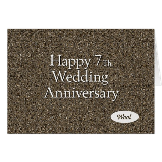 Hy 7th Wedding Anniversary Wool Card