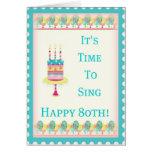 Happy 80th Birthday Card