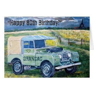 Happy 80th Birthday Card ❤️ For GRANDAD