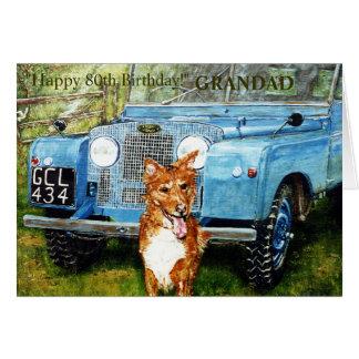 Happy 80th Birthday Card For GRANDAD