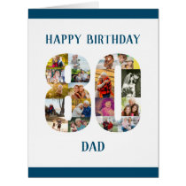 Happy 80th Birthday Dad Number 80 Photo Collage