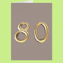 Happy 80th Birthday eightieth eighty 80 Card