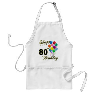 Happy 80th Birthday Gifts and Birthday Apparel Adult Apron