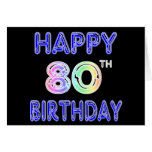 Happy 80th Birthday Gifts and Birthday Apparel Greeting Cards